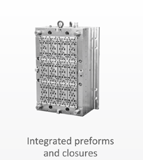 Integrated preforms and closures